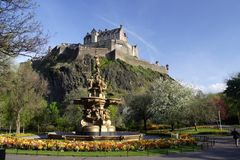 城堡视图 免版税图库摄影