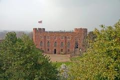 城堡视图 免版税库存照片