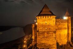 城堡视图 免版税库存图片