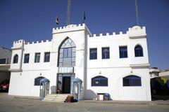 城堡警察局白色 免版税库存照片