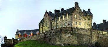 城堡详细资料爱丁堡黄昏冬天 库存照片