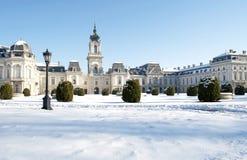 城堡详细资料festetics匈牙利 免版税图库摄影