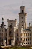 城堡详细资料hluboka 库存图片