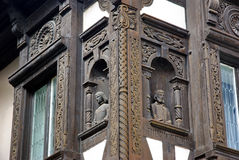 城堡详述peles罗马尼亚 免版税库存照片