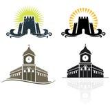 城堡象征 库存图片