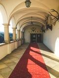 城堡走廊- Trakoscan城堡,克罗地亚 图库摄影