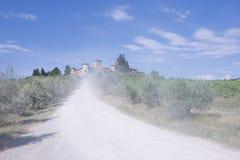 城堡路 库存照片