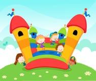 城堡跳 免版税库存图片