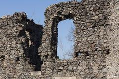 城堡近Nevytske废墟Transcarpathian地区中心, Uzhgorod照片 第13编译了城堡世纪nevitsky废墟乌克兰 Ukrai 免版税库存图片