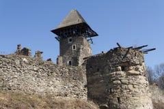 城堡近Nevytske废墟Transcarpathian地区中心, Uzhgorod照片 第13编译了城堡世纪nevitsky废墟乌克兰 Ukrai 免版税图库摄影
