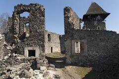 城堡近Nevytske废墟Transcarpathian地区中心, Uzhgorod照片 第13编译了城堡世纪nevitsky废墟乌克兰 Ukrai 免版税库存照片