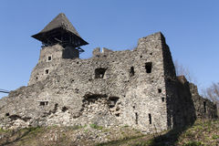 城堡近Nevytske废墟Transcarpathian地区中心, Uzhgorod照片 第13编译了城堡世纪nevitsky废墟乌克兰 Ukrai 图库摄影