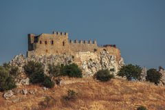 城堡迪利亚在西西里岛 图库摄影