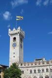 城堡钟楼 库存照片