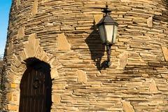 城堡门墙壁 免版税库存照片