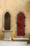 城堡门道入口 免版税库存照片
