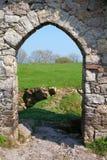 城堡门道入口roches 免版税库存图片