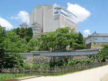 城堡防御在墙壁之下的姬路重建 免版税图库摄影