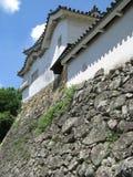 城堡防御姬路塔墙壁 库存照片