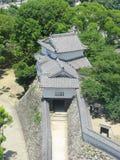 城堡防御姬路塔墙壁 免版税库存照片
