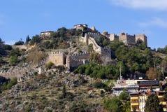 城堡顶层 库存图片