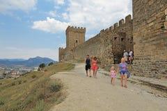 城堡领事热那亚人fortifiaction的堡垒 库存图片