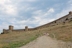 城堡领事热那亚人fortifiaction的堡垒 库存照片