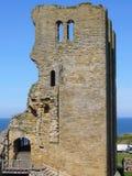 城堡风景的scarborough 库存照片