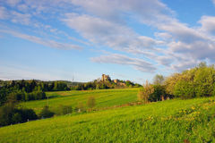城堡风景 库存照片