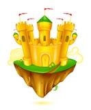 城堡飞行 库存图片