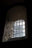 城堡黑暗老视窗 库存照片