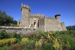 城堡,纳帕谷 免版税图库摄影