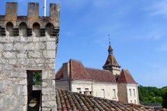 城堡, Rocamadour,法国 库存照片