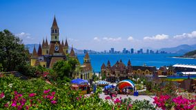 城堡, Vinpearl土地,芽庄市在越南 库存照片