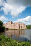 城堡水和反射 库存图片