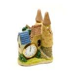 城堡黏土小雕象  免版税库存图片