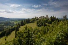 城堡破坏Hohenfreyberg 库存照片
