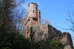 城堡破坏Schadeck,德国 免版税库存图片