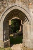 城堡绍姆堡-奥地利的拱道 免版税库存照片