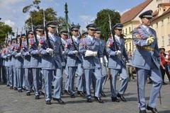 城堡仪式更改的卫兵布拉格 图库摄影