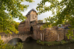 城堡巴德菲尔贝尔废墟  库存图片