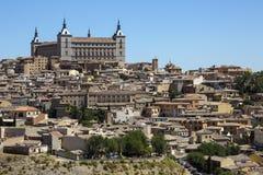 城堡-托莱多- La Mancha -西班牙 免版税库存照片