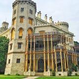城堡 捷克语 自然 天气 历史记录 路 库存图片