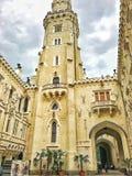 城堡 捷克语 自然 天气 历史记录 路 库存照片