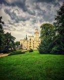 城堡 捷克语 自然 天气 历史记录 库存照片