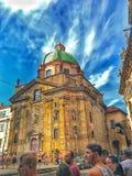 城堡 捷克语 自然 天气 历史记录 免版税库存照片