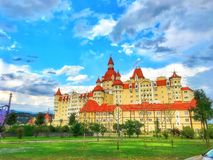 城堡 捷克语 自然 天气 历史记录 库存图片