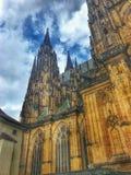 城堡 捷克语 自然 天气 历史记录 免版税库存图片