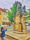 城堡 捷克语 自然 天气 历史记录 图库摄影