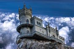 城堡`燕子` s巢` 图库摄影